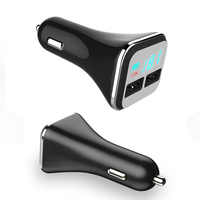 4.8A Quick Charge 2 USB Port LED Display Cigarette Lighter Phone Adapter Car Charger Charging For Samsung Galaxy S6 HTC LG