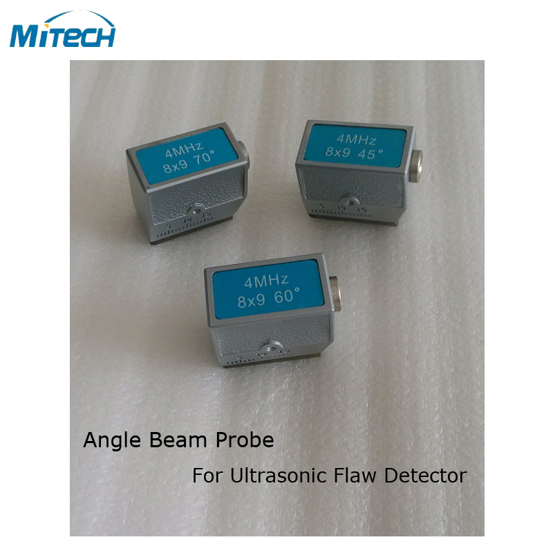 3pcs 4MHz 8x9 45 60 70 Degree Angle Probe Transducer