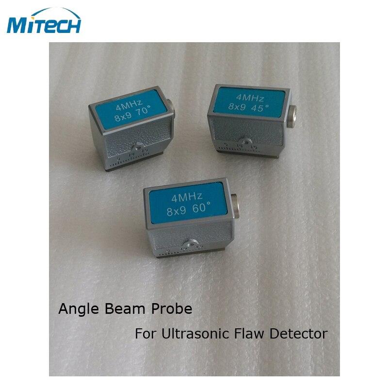 3pcs 4MHz 8x9 45+60+70 Degree Angle Probe Transducer