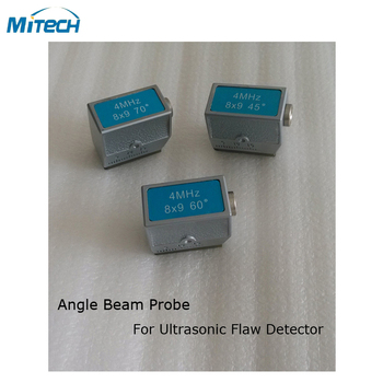 3pcs 4MHz 8x9 45+60+70 Degree Angle Probe Transducer