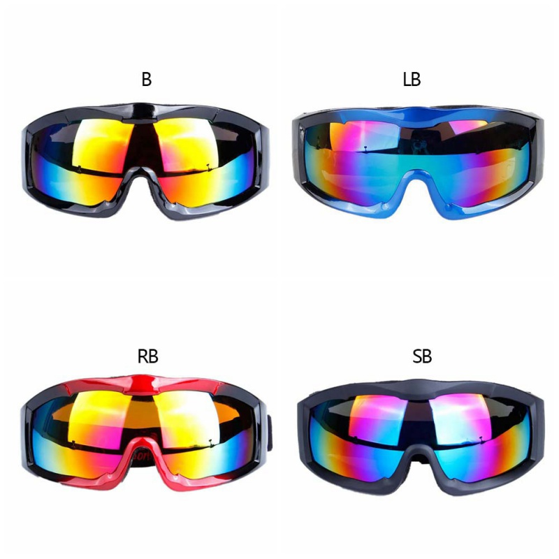 Men Women Skiing Eyewear Goggles Single Layer Spherical Surface PC UV 400 Protective Lens Windproof Adjustable Sports Glasses2