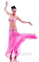 Nice Beaded Belly Dance Costume Nice Value Bra Belt Skirt Royal Vivid
