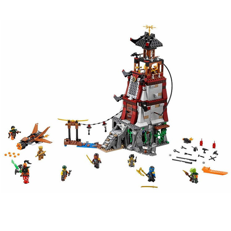 06037 The Lighthouse Siege 70594 Bela Building Bricks Figure Toys For Children 10528 lepin 06037 compatible lepin ninjagoes minifigures the lighthouse siege 70594 building bricks ninja figure toys for children