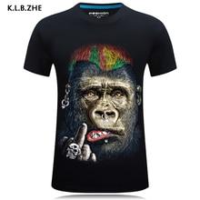 KLBZHE T shirt 3d Print Men Summer Rock star Funny Tee Shirt 3D Homme Casual Short Sleeve Women/Men Hip Hop clothing Plus size недорого