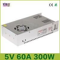 Darmowa wysyłka 5 V 60A wyjście 300 W Zasilacz impulsowy Sterownik LED Adapter CCTV US4, DC5V 2812B 2801 8806 Transformatory Oświetleniowe