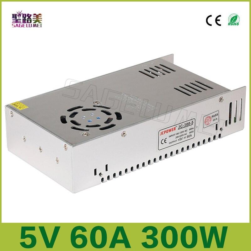 Freies verschiffen 5V 60A ausgang 300W Schalt Netzteil Treiber LED Adapter CCTV US4, DC5V 2812B 2801 8806 Beleuchtung Transformatoren