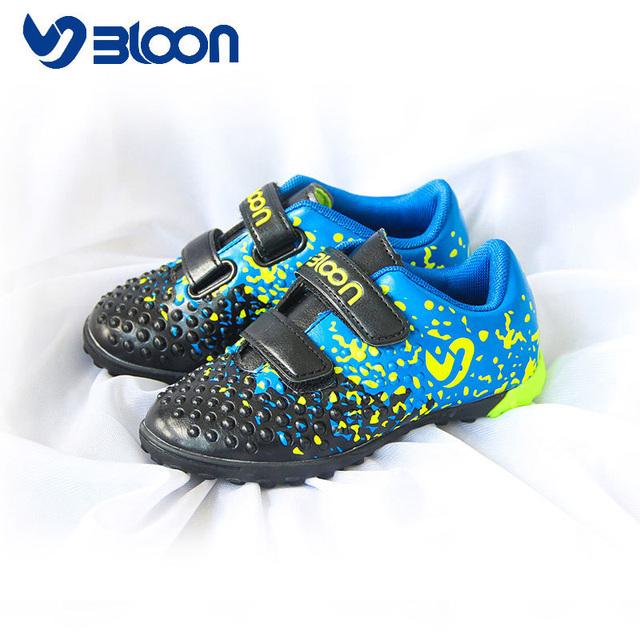 7ccb263c5d104 BLOON Nouveau Conçu Petits Enfants Chaussures Filles Garçons Enfants de Football  Chaussures de Football Intérieur Bottes