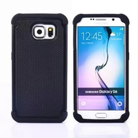 For Samsung S6 Case Armor 3D Hybrid Shockproof Protection TPU PC Back Cover For Samsung Galaxy
