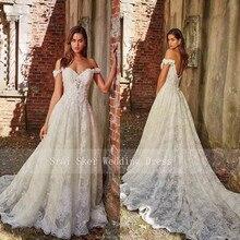 New Elegant Cap Sleeve White Lace Wedding Dresses Appliques Sexy Backless Bridal Gowns Vestido De Noiva