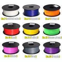 MakerBot/RepRap/UP/Mendel 12 colori Facoltativi stampante 3d filamento ABS 1.75mm/3mm 1 kg di plastica Gomma Materiale di Consumo