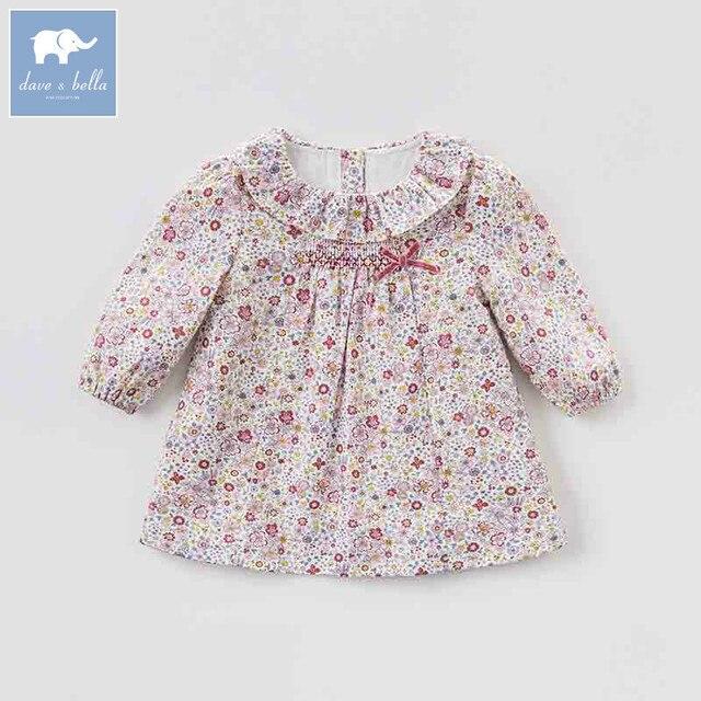 11586cc85 DBM7756 dave bella autumn infant baby girl's fashion floral dress kids  birthday party dress toddler children clothes