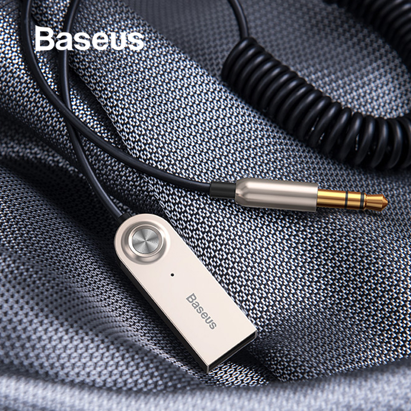 Baseus Bluetooth Transmitter Wireless Bluetooth Receiver 5.0 Car AUX 3.5mm Bluetooth Adapter Audio Cable For Speaker HeadphonesBaseus Bluetooth Transmitter Wireless Bluetooth Receiver 5.0 Car AUX 3.5mm Bluetooth Adapter Audio Cable For Speaker Headphones