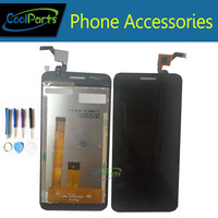 High Quality Black And White Color For Fly FS407 Lcd Display And Touch Screen Replacement 1PC