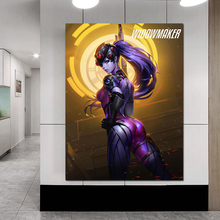 цена на Overwatches Widowmaker Wallpaper Canvas Painting Print Living Room Home Decoration Modern Wall Art Oil Painting Salon Pictures
