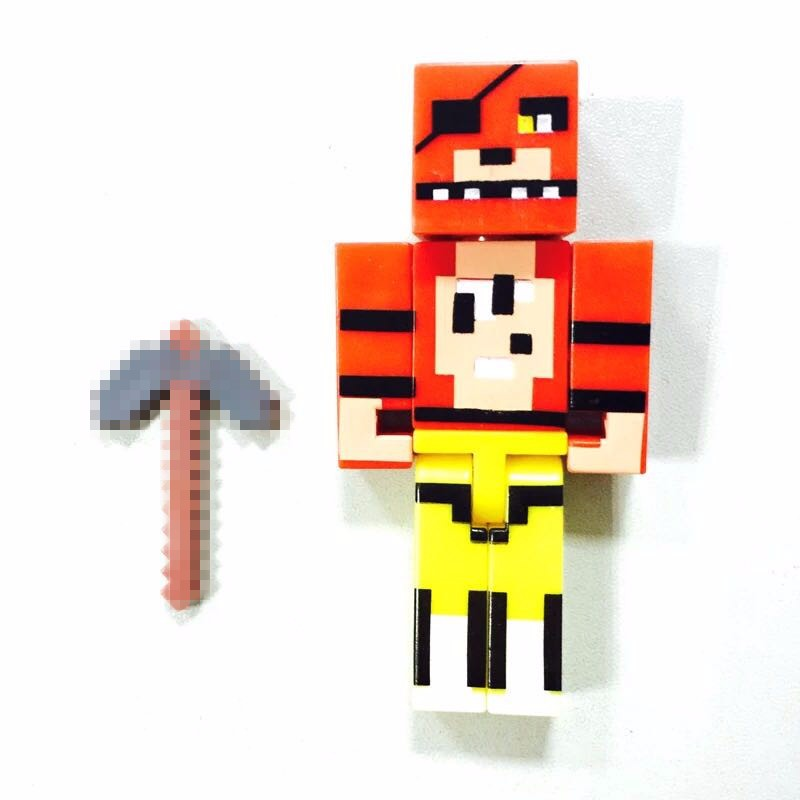 4pcs/set Minecraft Five Nights At Freddy's 4 FNAF Foxy Chica Bonnie Freddy  Action Figures Kid Toy