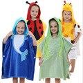 2016 NoEnName_Null New Girls Boys Baby Lovely Shape Children's Bathrobe Hooded Cloak Cotton Super Soft Absorbent Towel PF-07