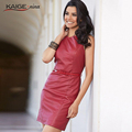 KaigeNina новая мода популярные продукты элегантный и тонкий женщин pu моды сексуальное платье 2244
