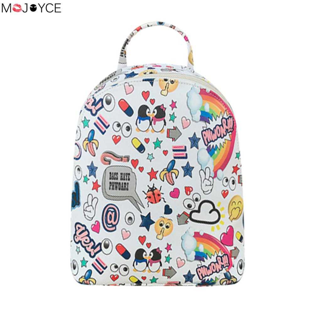 Women School Bags Floral Printing Leather Backpack for Teenage Girls Travel Small Backpacks Mochila Feminina Rucksack Bagpack # women backpack bag real leather backpacks for teenage girls school bags fashion travel backpack youth rucksack mochila feminina