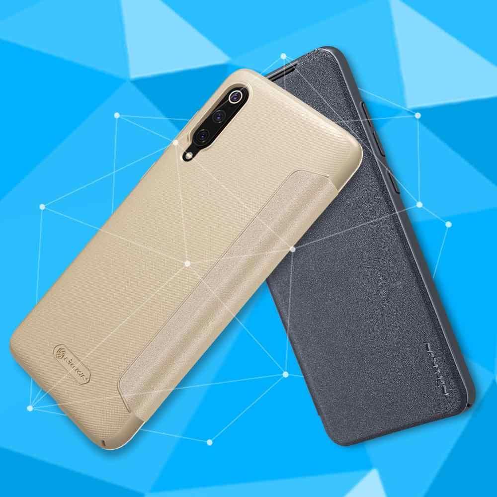 ため xiaomi mi 8 mi 9 ケース NILLKIN スパークカバー Pu レザーハードバックカバー電話ケースのための xiaomi 8 mi 8 se mi 9 カバーケース