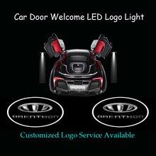 2x Autodeur Welkom Aangepaste BRENTHON Logo Ghost Shadow Spotlight Laser Projector Puddle LED Licht (1294)