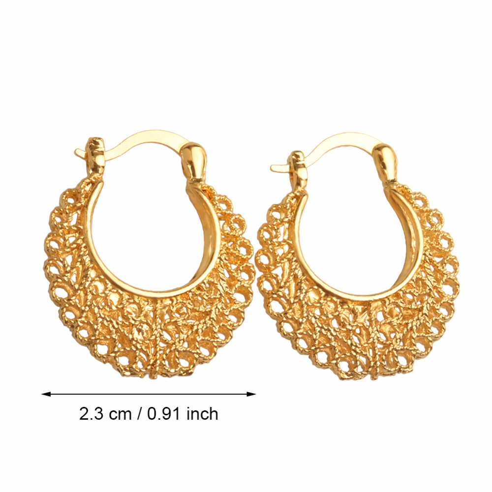 Anniyo African Trendy Stud Earrings For Women S Gold Color Arab Jewelry Best Gifts 005716 In From Accessories On Aliexpress