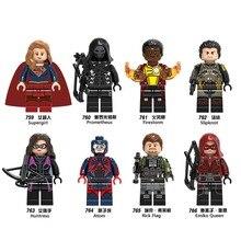 Supergirl LEGOING Super Heroes Wonder Woman Thor Aquaman Superman Batman Building Blocks batman font b Toys