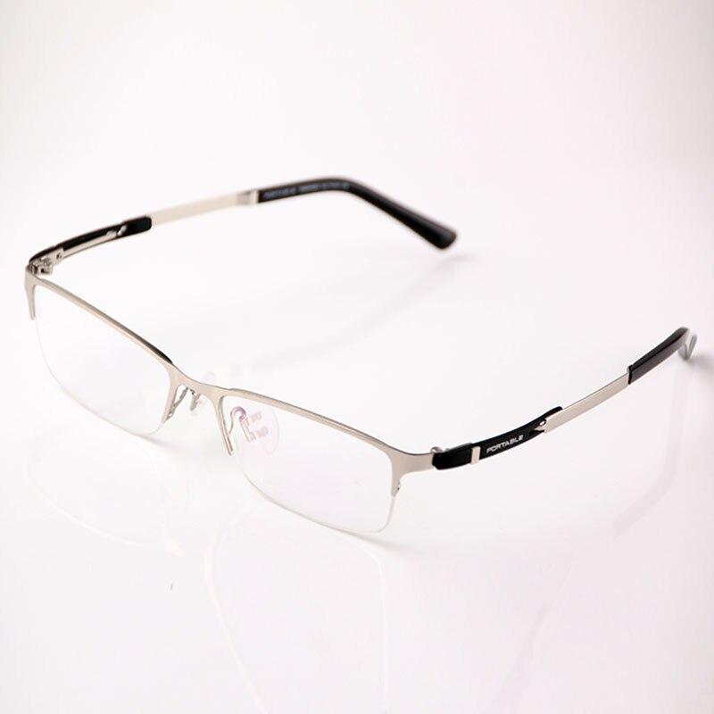 Sınıf Erkek Kadın Asetat ve Metal Gözlük Çerçeveleri Marka - Elbise aksesuarları - Fotoğraf 5