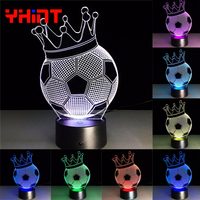 World Cup football Creative 3D illusion Lamp LED Night Light 3D football Discoloration Colorful Novelty Atmosphere Lamp gift