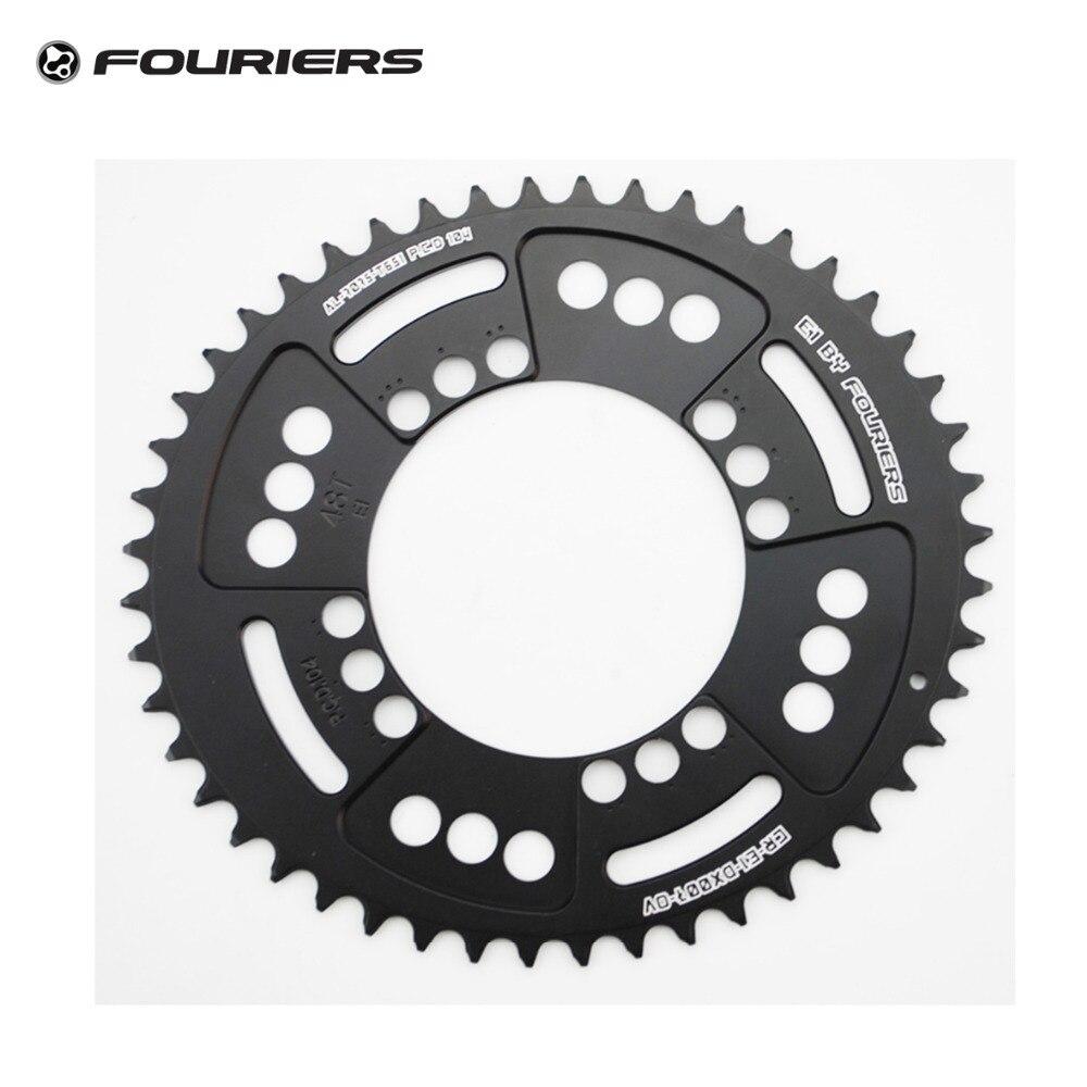 Fouriers 7075 Ovales Einzelkettenblatt 38T 40T 42T 44T 46T 48T - Radfahren - Foto 6