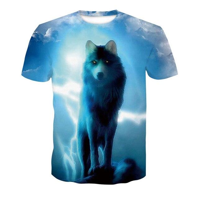 2018 new skull 3D T Shirt Summer Mens Fashion Tops Male Print harajuku wolf Men Women casual Anime T-Shirts dropshipping 4