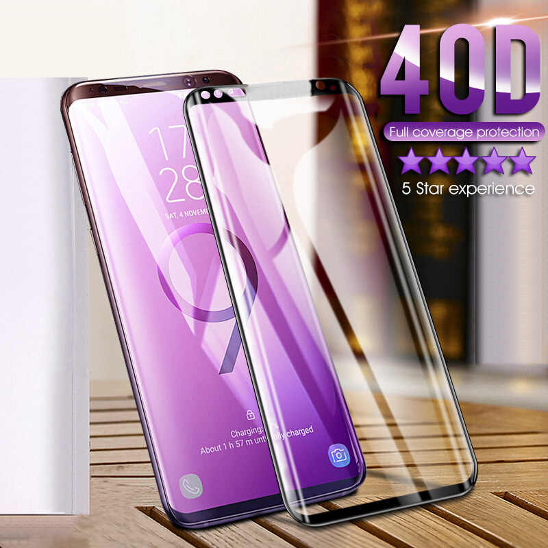 40D Full Curved Tempered Glass For Samsung Galaxy S9 S8 Plus Note 9 8 Screen Protector For Samsung S7 S6 Edge S9 Protective Film