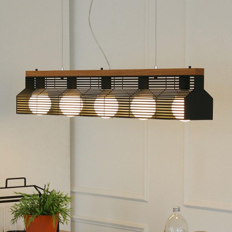 Nordic eisen einfache restaurant lichter drei Anhänger Lichter rezeption studie bar tisch bar kreative anhänger lampen LU80380-in Pendelleuchten aus Licht & Beleuchtung bei title=