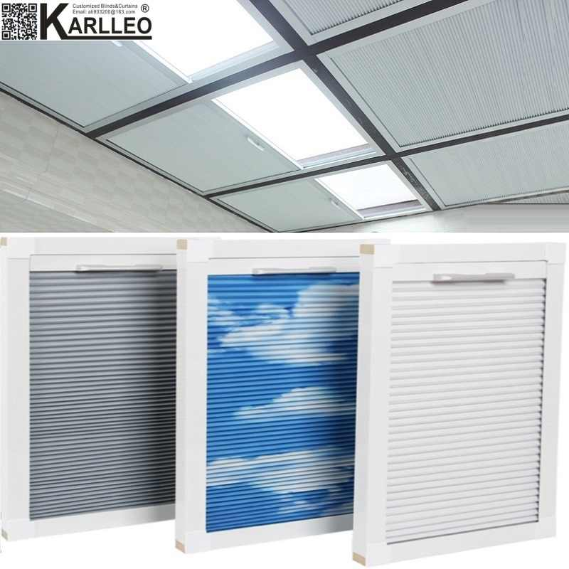 Skylight Roof Window Cellular Honeycomb Blackout Blinds Shades(Manual)Customize Size
