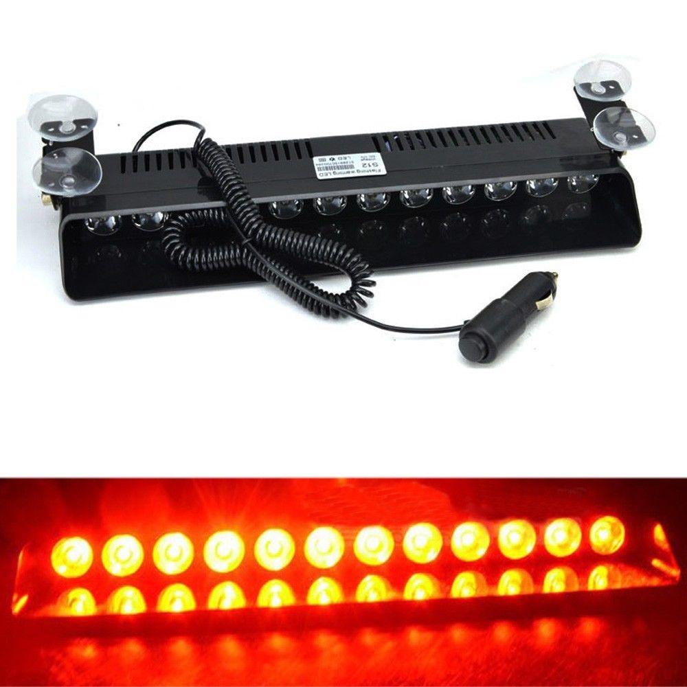 XYIVYG Red 12 LED Car Emergency Dashboard Warning Strobe Lights Flashing Lamp