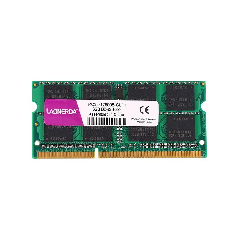 Laptop RAM DDR3 DDR3L 4GB GB 2Rx8 8 1333 MHz 1600 Mhz 1.5V 1.35V Memória LAONERDA SO-DIMM para Intel ou AMD memoria