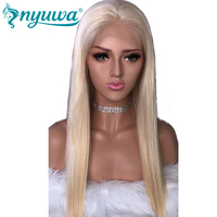 Pre Plucked Blonde Glueless Full Lace Human Hair Wigs For Women Color 613 Straight Brazilian Virgin Hair Transparent Lace Wigs