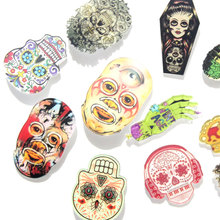 1 PCS Undead Skull Badges for Clothing Free Shipping Acrylic Badges Icons on The Backpack Badge Kawaii Icon on The Pin