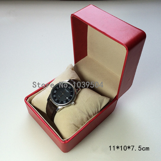 Top Red Leather Luxury Brand Watch Box Fashion Watch Storage Boxes