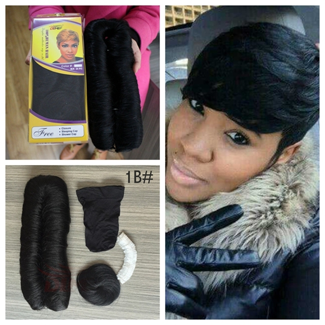 Short Hairstyles For Black Women  1 1B 2 4 99J Beauty Colour Short Hair  Pieces 28pcs Cheapest Weaving Human Hair High Quality e4ab8b7c2f