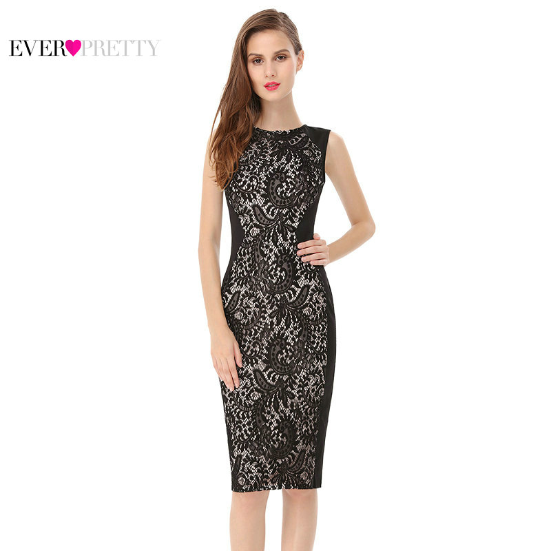 [Clearance Sale] Ever-Pretty Women Vintage   Cocktail     Dresses   Bodycon A Line Sexy Lace Sleeveless Formal Party   Cocktail     Dress