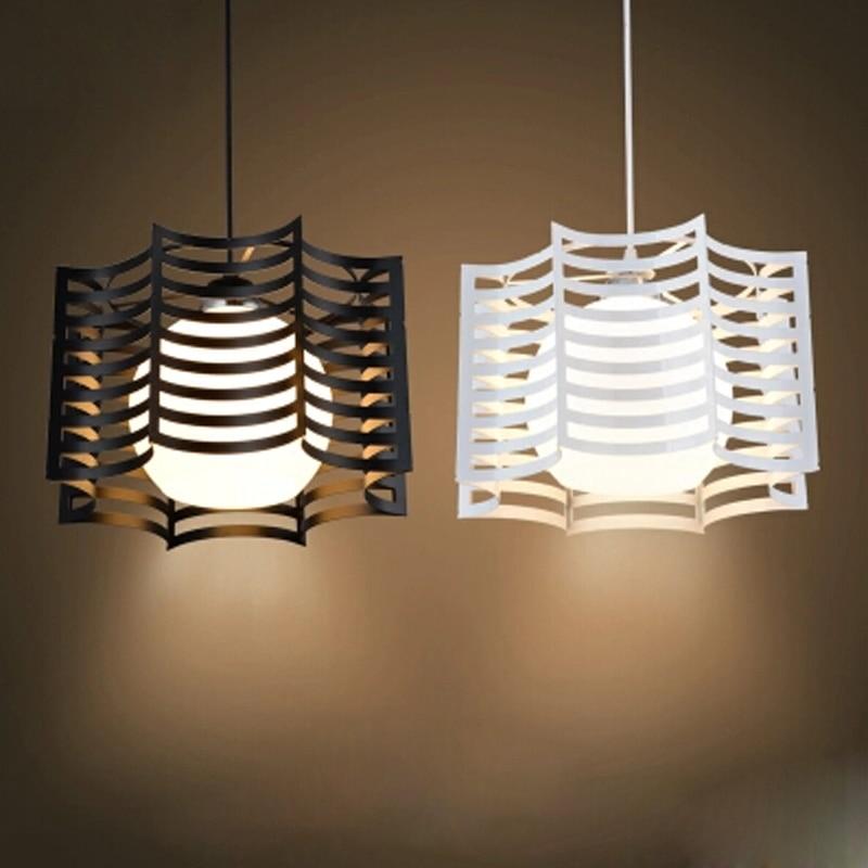 Wrought iron pendant light modern brief lighting fitting ...