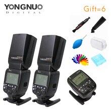Yongnuo 2 stücke YN600EXRT II Speedlite + YN-E3-RT Speedlite Transmitter Kit Hoher geschwindigkeit Sync 2,4G wireless für canon kamera