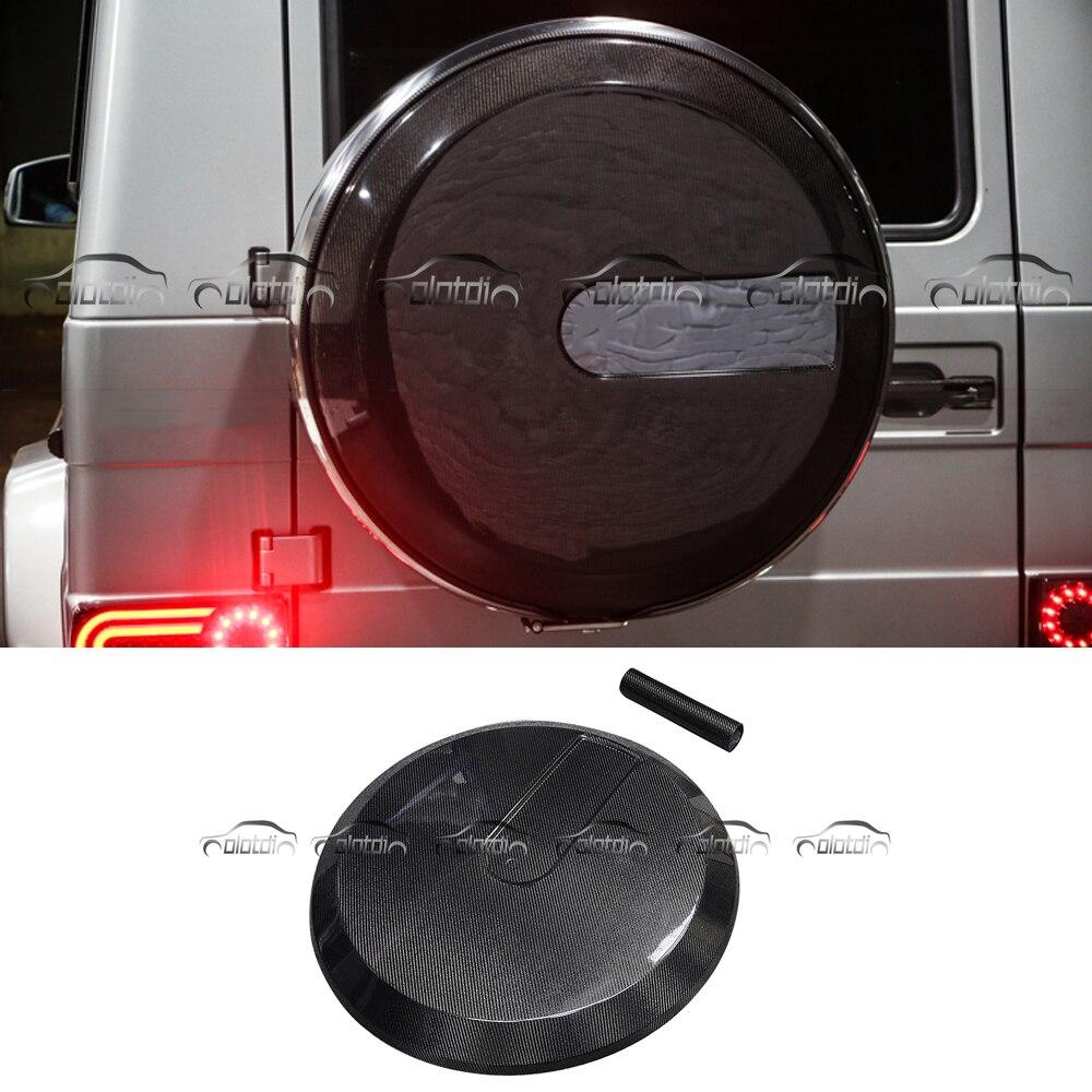 Kits de carrosserie en Fiber de carbone housse de roue de secours pour Mercedes Benz W463 G305 G500 G55 G65 2002-2014