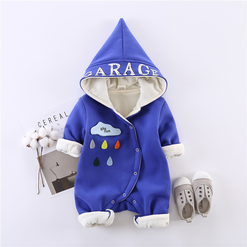 Baby Clothes 0-1 Spring Baby Rompers Boy Girl Romper Infants One-piece 6 Colors Warm Long-sleeved New Baby Clothes hot spring autumn blue baby knitting rompers baby boy clothes baby boy girl romper 100
