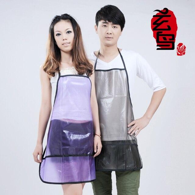 Transparent aprons barber salon aprons aprons overalls beautician hairdresser Wai cloth Barber clothing Professional