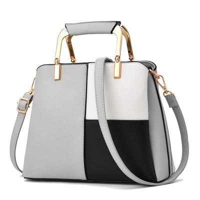 New Arrivals Women Brand New Design Handbag Black And White Stripe Tote Bag Female Shoulder Bags High Quality PU Leather Purse