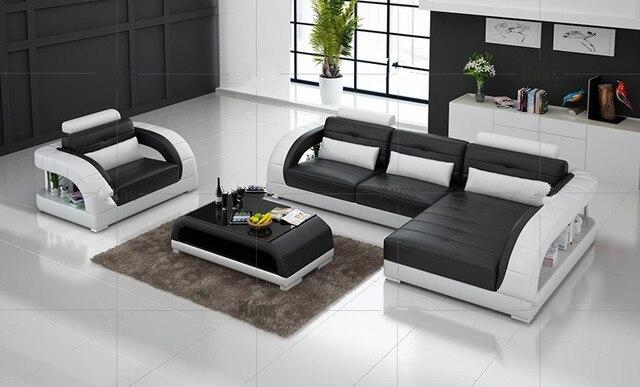 Divani angolari in pelle con genuino divano componibile in pelle ...