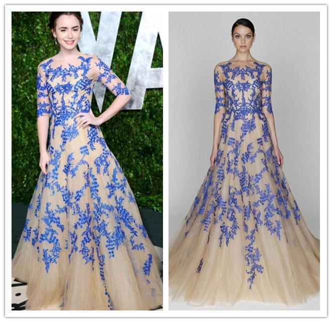 Великолепные кружевные накладные аппликации на половину рукава выпускное платье трапециевидной формы длиной до пола вечернее платье для свадебной вечеринки на заказ