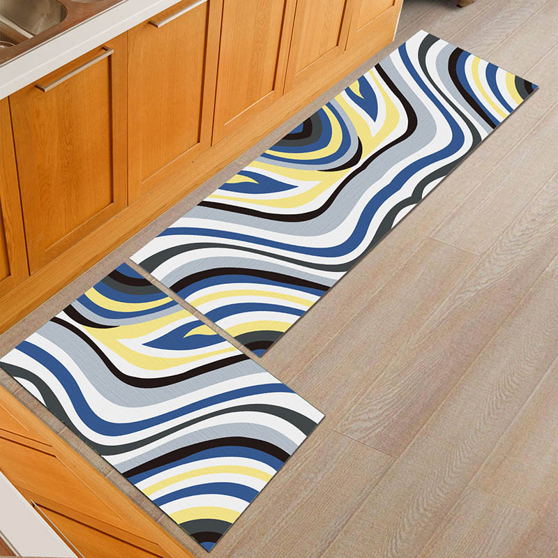 Water Absorbent Kitchen Mats with Anti Slip Bottom Suitable for Kitchen and Living Room Floor 2
