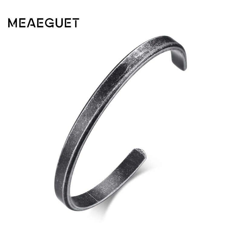 Meaeguet Vintage Viking Cuff สร้อยข้อมือกำไลข้อมือ Retro สีสแตนเลสสตีลสร้อยข้อมือผู้หญิงผู้ชาย Pulseras อุปกรณ์เสริม